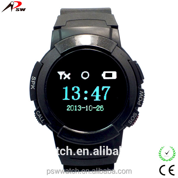 phone card display SOS bluetooth gps positioning watch silicone slap watch
