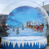 Outdoor promotion commercial decorative inflatable snow globe, christmas snow globes sale, chritmas snow globe for taking