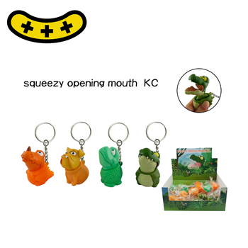 Novelty Vinyl Toy plastic squeeze keychains/ Pop mouth Toys keychains
