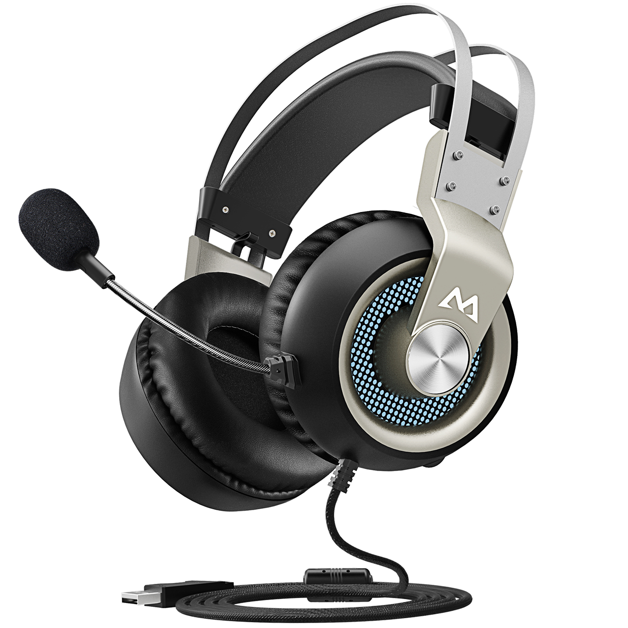 PS4 7.1 Surround Sound Gaming Headphones for FPS Game Mpow EG3 Gaming Headset LED Light Easy Volume//Mic Control for PC Stereo Over-Ear USB Computer Headset with Noise Cancelling Mic 50mm Driver