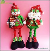 Christmas toys decoration extension santa snowman reindeer ,christmas fabric crafts toys tube standingToys BGSY1041