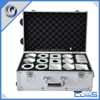 MLD-TC251 Silver Diamond Excellent Quality Rolling Aluminum Trolley Tool Case with EVA Mold