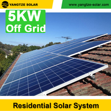Free shipping Yangtze Solar 5kw high efficiency solar energy systems