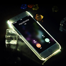 Free sample call incoming shinning led flash phone case for iPhone 6s Plus