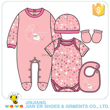 Newborn infant baby girl romper and bodysuit 2 pcs clothes gift set