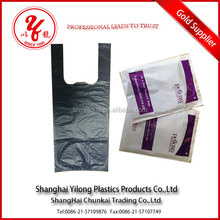 outer pack and sealed HDPE black scented t-shirt bags without printing