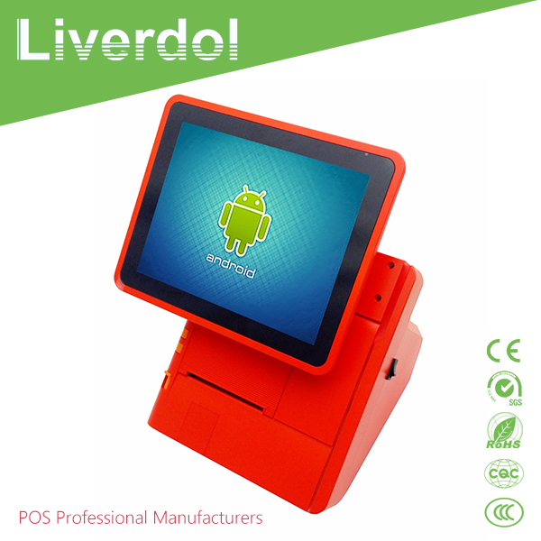 Portable new Android POS Terminal With 80mm Built-in Printer, POS tablet