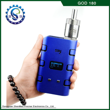 alibaba china 2014 newest top selling huge vaporizer pen variable voltage 180 w god 180 mod