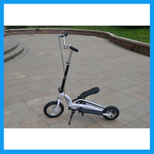 Adult Folding dual pedal scooter with two inflatable tyre