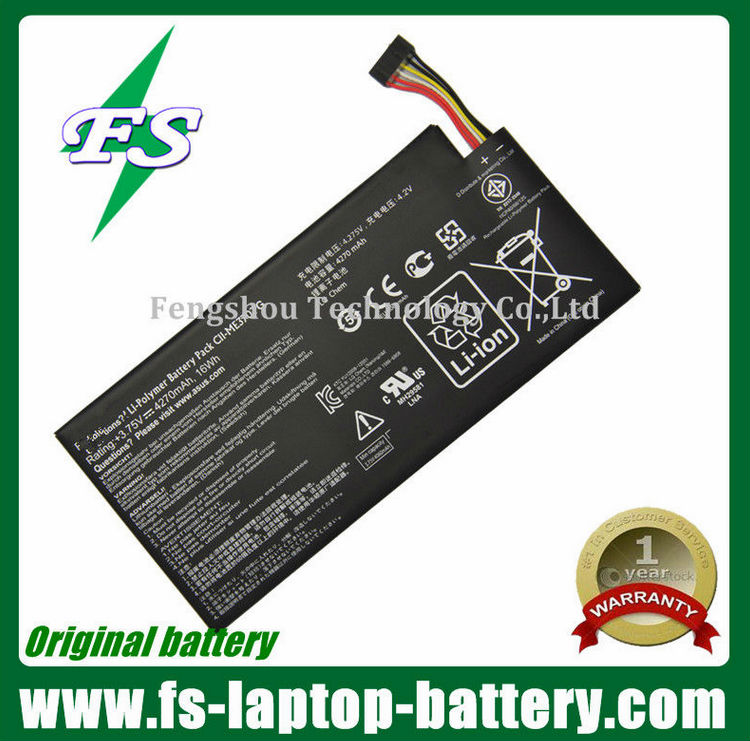 Genuine new laptop battery for Asus Google Nexus 7 8GB Tablet battery C11-ME370T