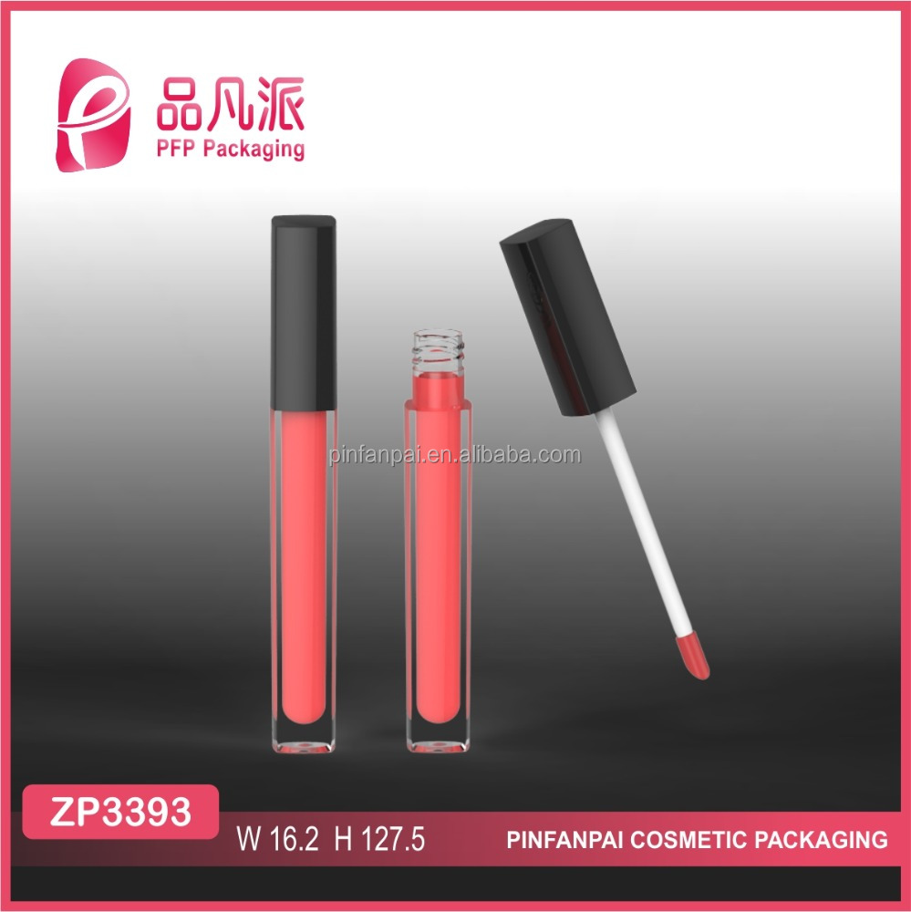 2017 matte square empty lip gloss packaging