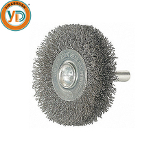 Polishing Wire Disc Brush with Shank for Power Drill