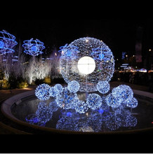 led illuminates christmas lights for festive holiday attraction
