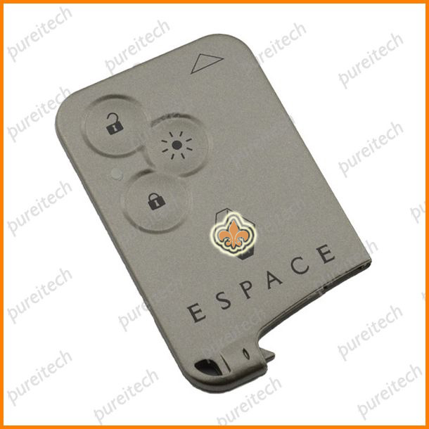 renault espace laguna megane smart key cards 3 buttons car remote key covers wholesale with logo