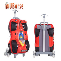 New 2 wheels trolley bag kids school bag with 3d cartoon picture