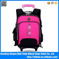 New style school rolling backpack bag with cover luggage with two strap alibaba