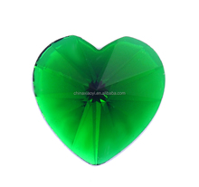Flat Back Stone Resin Material Heart Shaped Crystal Rhinestone Motif for Dresses