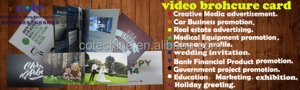 "2.4/2.8/4.3/5/7/10"" tft lcd video advertising card/video greeting cards for advertisement/digital video card"