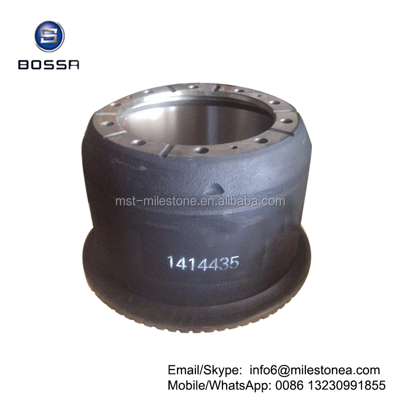 Manufacturer cast iron brake drum 1414435 for Scania truck