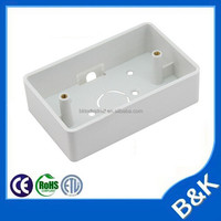 ABS Surface mounted Back Box US type White color Outlet Electrical Back Box 118*72*33mm for America,Italy,Australia PC Back Box