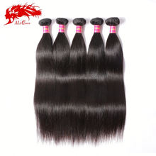 2014 6A vigin human hair no shedding no tangle noble look hair extension straight brazilian