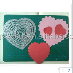 Thin metal scrapbooking cutting die Scalope heart card sm990025 thinlits die.
