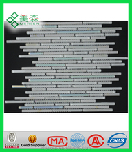 MSSZ8801 Foshan Crystal mix mosaic tile wallpaper designs for kitchen adhesive glass tiles