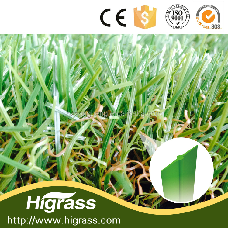 non infill W shape customize landscaping chinese artificial grass
