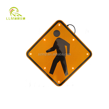 Factory price waterproof aluminum radar solar led speed limit warning sign