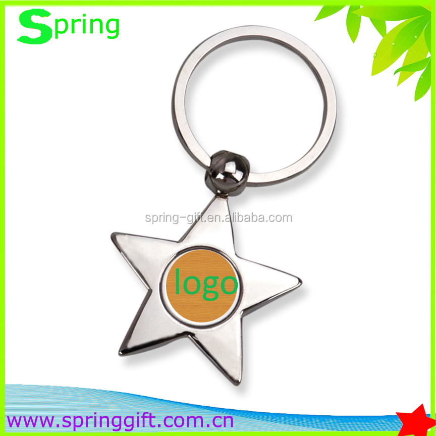 Good quality zinc metal keychain and customize leather key chain