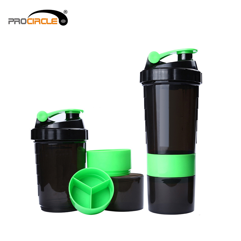 Promotion Fitness Outdoor Sport Plastic Shake Water Bottle