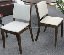 Hotel Furniture Wood Frame Upholstered Fabrics Dining Chairs (FOHC-07)