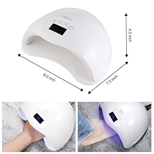 Factory Wholesale 50W Gel Nail Lamp UV LED Dryer Curing Lamps Light for Fingernail Toenail Polish