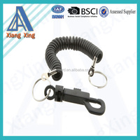 Wholesale black color specialized cheap cord sprial lanyard on China market