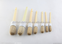 durable paint brush with round head wooden handle