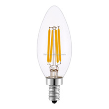dimmable 2W 4W 360 degree E12 AC110V Led Filament Candle Light Bulbs Warm White Glass Cover Filament Bulb