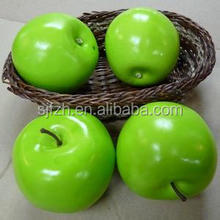 Hot sale artificial green apple for sale, artificial apple for decoration
