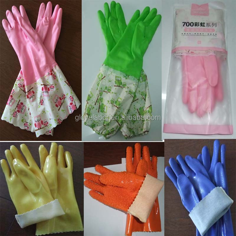 Top quality working safety easy grab waterproof labor protection PVC gloves for household