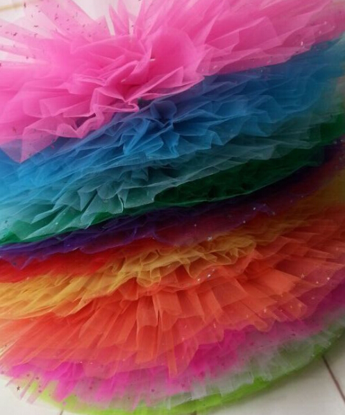 wholesale baby girls party dance tutu skirt sparkly glitter tutu