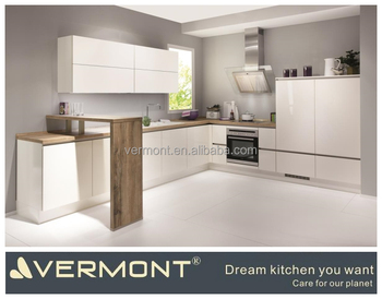 Modern White Lacquer Commercial Luxury High-end Easy Assemble Hotel Kitchen Cabinet