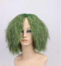 Factory quality Batman movie characters short green cosplay joker wig
