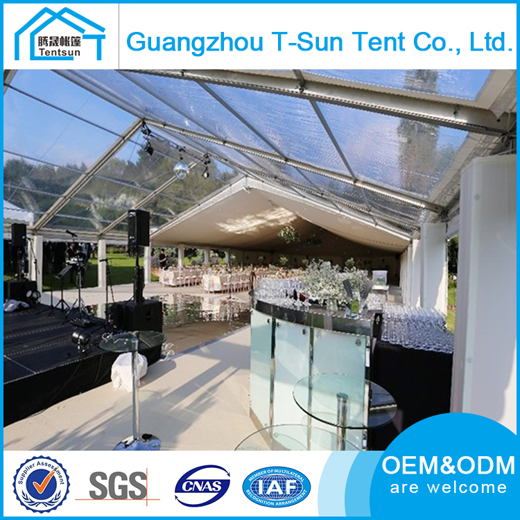 China Made Heavy Duty Octagonal Party Marquee / Eight-sided Pagoda Transparent Wedding Tent Used For Wedding Reception