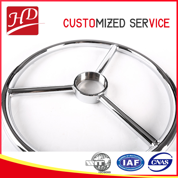 Round metal swivel spoke chair base