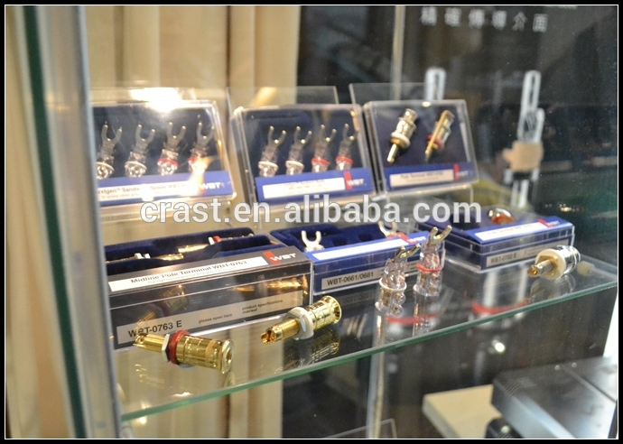 Customized made 24K Gold Plated RCA plug Connectors HIFI Tube Amplifier