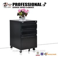 High end cheap steel kd metal 2 drawer filing cabinet on wheels