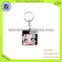 custom cartoon figure epoxy metal funny keychain