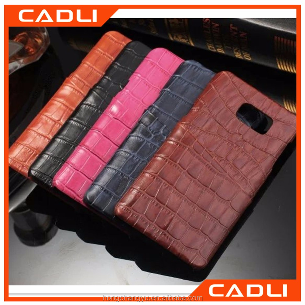 2016 New Arrival Crocodile Pattern Leather Luxury Phone Case for Samsung