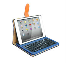 2013 New Design Vintage Detachable Bluetooth Keyboard Leather Case For iPad Mini