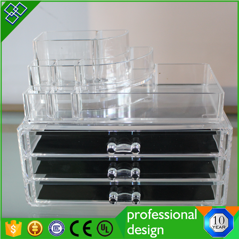 Pinzhi high quality display acrylic make up organizer shelf