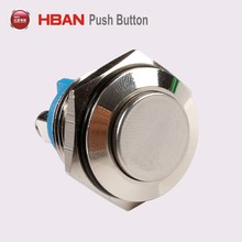 CE ROHS 16mm gold-plated door bell metal pushbutton switch